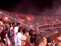 Excited São Paulo fans.
