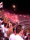 Fireworks to celebrate São Paulo's victory.
